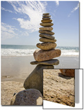 Rocks Balancing at the Beach, Aquinnah, Martha's Vineyard, Ma Prints by Frank Rapp