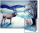 Large Stag Surveys Valley Prints by Rich LaPenna