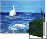 Sailboat in Stormy Seas Posters by Rich LaPenna