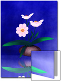 Floral Arrangement of Orchid in Vase Partly Reflected Posters by Rich LaPenna