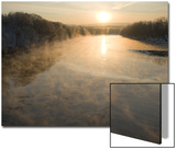 Connecticut River in Montague, Massachusetts at Sunrise on a Frosty Morning Prints by John Nordell