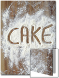 Word Cake in Flour Posters by Neil Overy