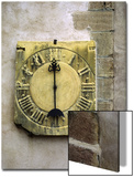 Old Stone Clock on Wall of Old Building Posters by Diane Miller