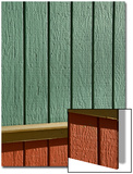 Red and Green Wall Exterior Posters by John Nordell