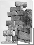 Stacked Stone Forming a Wall Poster by Rob Lang