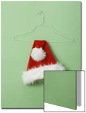 Santa Hat on Wire Hanger Print by Laura Johansen