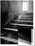Glowing Doorway at Top of Exterior Stone Stairway Print by  Monzino