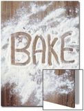Word Bake in Flour Prints by Neil Overy