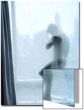 Rob Lang - Nude Man Behind a Curtain Obrazy