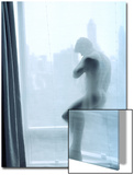 Nude Man Behind a Curtain Prints by Rob Lang