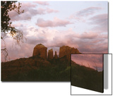 Sunset Sky over Cathedral Rock, Sedona, Arizona, USA Posters by Margaret L. Jackson