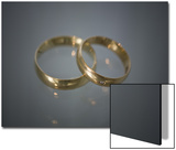Wedding Bands on Glass Print by Rune Johansen