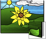 Stained Glass Sunflower Prints by Rich LaPenna