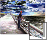 Young Man Looking Out to Sea Prints by Rich LaPenna