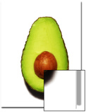 Half an Avocado on a White Background Posters by Tina Chang