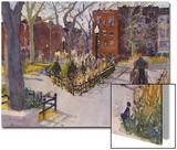 Watercolor Painting of a Park Scene Posters van Steve Singer
