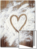 Heart Shape in Flour Posters by Neil Overy
