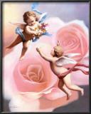 Cherubs' Rose Prints by T. C. Chiu