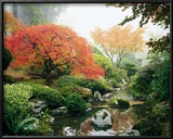 Japanese Garden I Art by Maureen Love