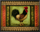 Mediterranean Rooster I Prints by Kimberly Poloson