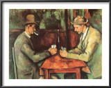 Card Players, c.1890 Prints by Paul Cézanne