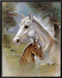 Dapple Mare and Fowl Prints by Ruane Manning