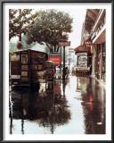 Sidewalk in Rain Print by Zeny Cieslikowski
