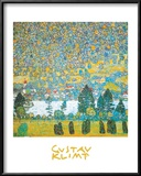 Mountain slope at Unterach Print by Gustav Klimt