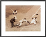 Jackie Robinson Stealing Home, May 18, 1952 Posters by Nat Fein