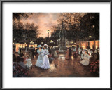 Meeting at the Fountain Prints by Christa Kieffer