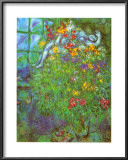 Le Bouquet Ardent Prints by Marc Chagall