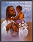 Christ with Child Poster by  Lopez