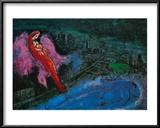 Bridge over the Seine Prints by Marc Chagall