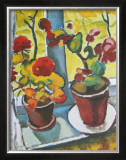 Flowers at the Window, Begonias Posters by Auguste Macke