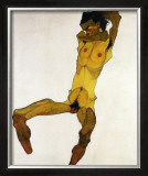 Nu Masculin Assis I, c.1910 Prints by Egon Schiele