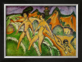 Nude Walking into the Sea, 1912 Print by Ernst Ludwig Kirchner