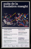 Nuits de la Fondation 1966 Posters by Wassily Kandinsky