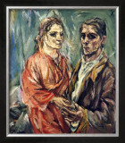 Double Portrait, c.1912-1913 Art by Oskar Kokoschka