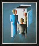 Four Figures and Cube, 1928 Posters by Oskar Schlemmer