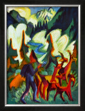 Herder and Goats in the Morning Print by Ernst Ludwig Kirchner