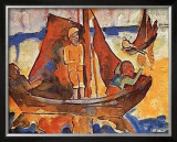 Fishing Boats Poster by Karl Schmidt-Rottluff