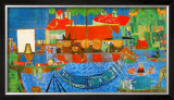 Wonderful Fishing Poster by Friedensreich Hundertwasser