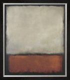 Dark Brown with Grey and Orange Art by Mark