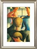 Gruppe Am Gelandernr, 1931 Art by Oskar Schlemmer