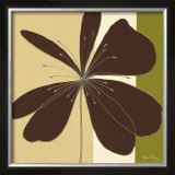 Chocolate Flower Burst Poster by Debbie Halliday