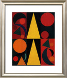 Soleil, c.1947 Print by Auguste Herbin