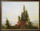 View of the Elbe Valley Framed Giclee Print by Caspar David Friedrich