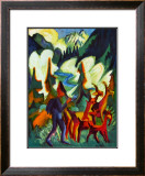 Herder and Goats in the Morning Prints by Ernst Ludwig Kirchner