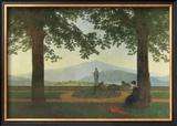 Garden Terrace Framed Giclee Print by Caspar David Friedrich