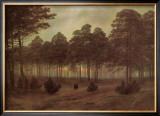Evening Framed Giclee Print by Caspar David Friedrich